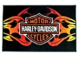 Harley Davidson 20-Inch by 30-Inch Tufted Rug, Flames