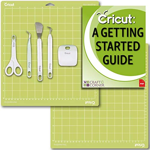 "Cricut Tools Basic Set and 2 Pack Cutting Mats 12"" x 12"" Beginner Guide Bundle"