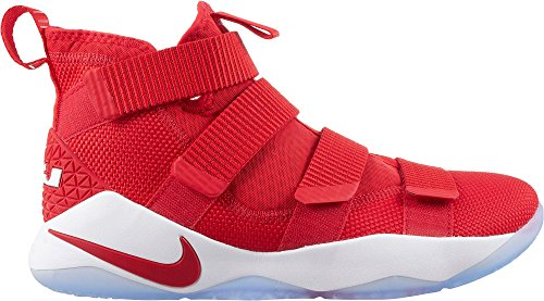 buy popular ef1f9 c3c7d NIKE Men s Lebron Soldier Xi Basketball Shoe, University Red Black White, 10
