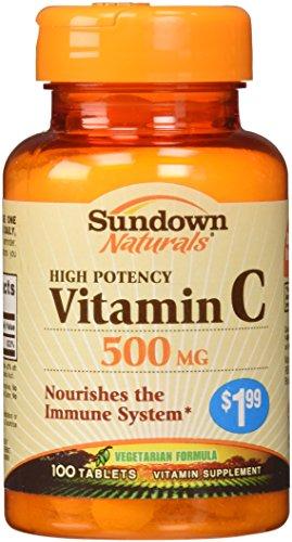 Sundown Naturals Vitamin C Ascorbic Acid Tablets 500 mg, 100 Count by Sundown Naturals