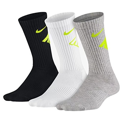 Nike Little Boy's 3Pair Performance Bright Green Crew Socks 6-7 Fits Shoe 13C-3Y ()
