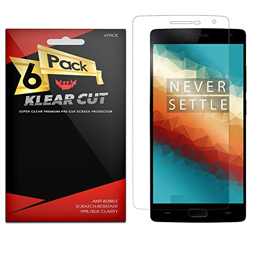 Klear Cut [6 Pack] - Screen Protector for OnePlus 2 / OnePlus Two - Lifetime Replacement Warranty - Anti-Bubble & Anti-Fingerprint High Definition (HD) Clear Premium PET Cover - Retail Packaging
