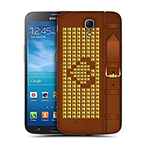 Head Case Designs Brown Heart Studded Handbag Replacement Battery Back Cover for Samsung Galaxy Mega 6.3 I9200 I9205