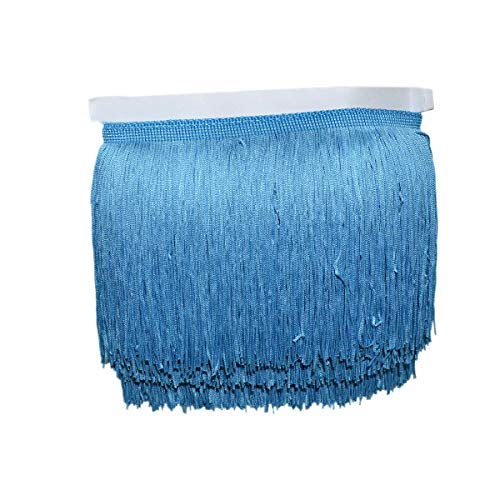 Mangocore 10Yard/Lot 15CM Long Lace Trim Color Polyester Tassel Fringe Trimming For Diy Latin Dress Stage Clothes Accessories (Royel blue (as picture ))