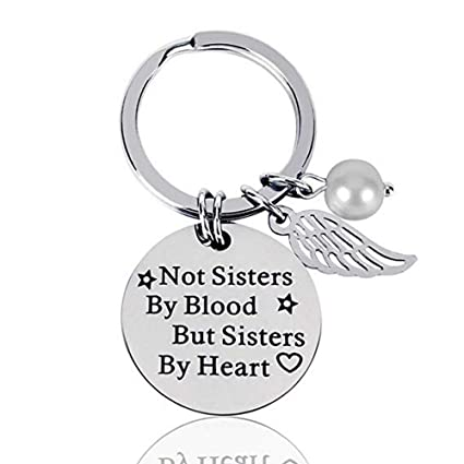 Best Friend Gifts Keychain Stainless Steel Women Friendship Perfect Gift Ideas For