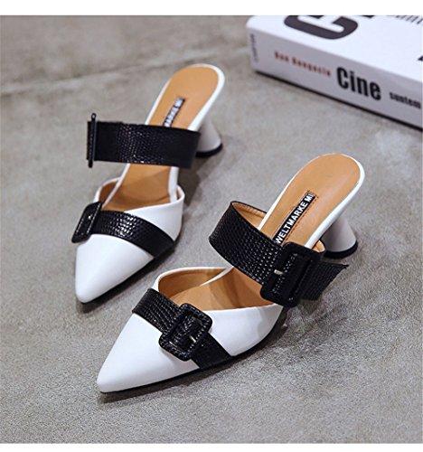Rhinestones Slippers Black Jeweled Embellishment Satin Flat Womens for Slides Toe Sandals Women Mule Sandals Luxury Pointed 1xUgY1