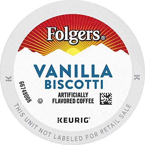 Folgers Vanilla Biscotti Flavored Coffee, K Cup Pods for Keurig Coffee Makers, 96 Count