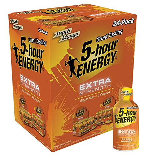 5 Hour Energy, Extra Strength Peach Mango, 24 Count