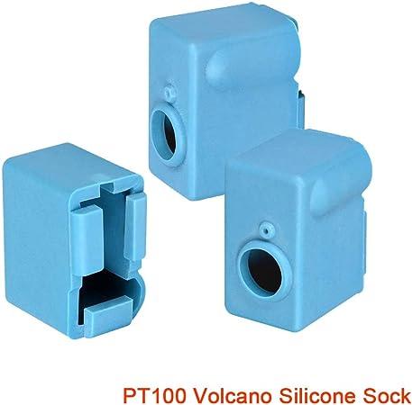 YIJIABINGRU 2 5pcs for Stampante 3D Volcano fine Caldo Blocco riscaldatore eruzione Blocco di Riscaldamento 1.75 3 Millimetri Filament estrusore J-Testa di Blocco in Alluminio riscaldatore