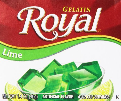 Royal Gelatin, Fat Free Dessert Mix, Lime (12 - 1.4 oz Boxes)