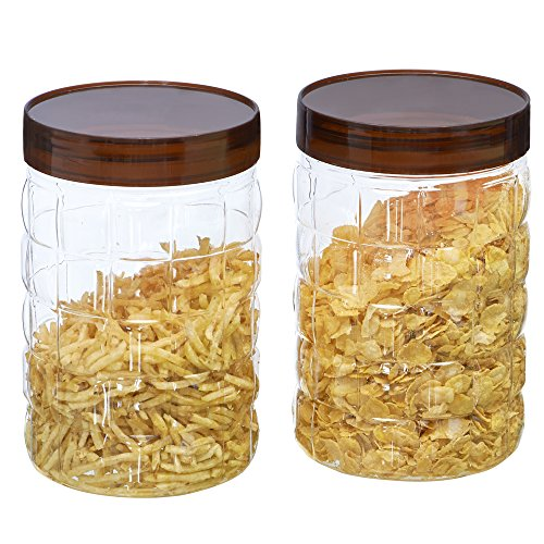 Steelo Plastic PET Container Set, 2 Litre, Set of 2, Maroon Price & Reviews