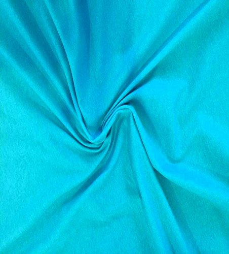 (Knit Teal Solid Design Fabric by the Yard, 95% Cotton, 5% Lycra, 60 Inches Wide, great quality, medium weight, 4 way stretch (1)