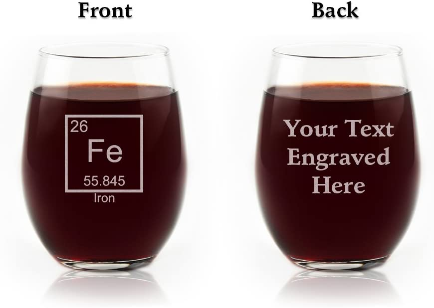 Engraved Iron 6th Anniversary Periodic Table of Elements Glass
