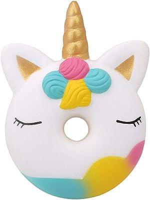 xinlong New Squishy Toys Cute Food Shape Unicorn Donut PU Foam Slow Rising Squeeze Stress Relief Toys