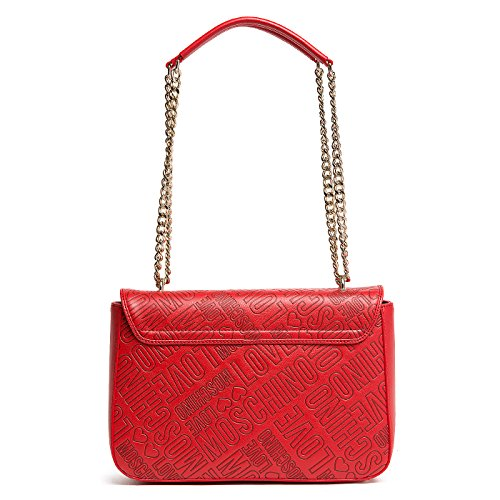 Love Moschino shoulder bag Embossed Pu red