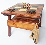 Kids Wooden Tic Tac Toe Game and Activity Table, Indoor / Outdoor