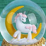 VECU Unicorn Snow Globe, 80 MM Manual Snowfall