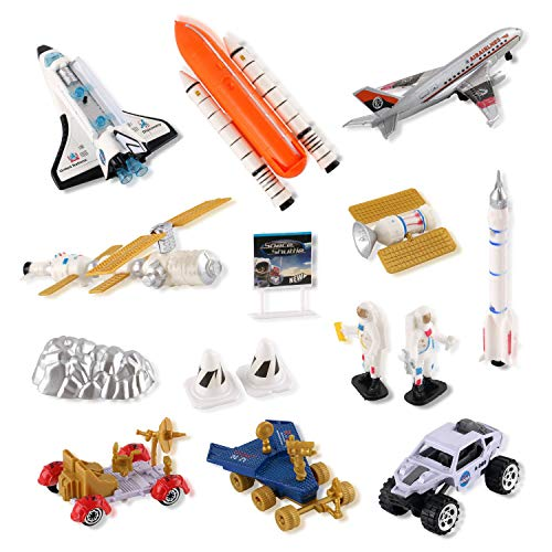 Liberty Imports Mission to Mars Space Shuttle Playset for Kids with Rockets, Satellites, Rovers & ()