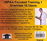 HIPAA Focused Training 1- Overview, 10 Users, Farb, Daniel, 1594911681
