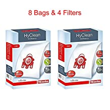 Miele Fjm Hyclean 3D Efficiency Dust Type 8 Bags and 4 Filters