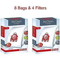 Miele HyClean 3D Efficiency Dust Bag, Type FJM, 8 Bags & 4 Filters