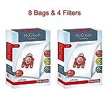 #5: Miele HyClean 3D Efficiency Dust Bag, Type FJM, 8 Bags & 4 Filters