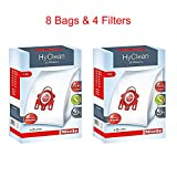 miele c1 - Miele HyClean 3D Efficiency Dust Bag, Type FJM, 8 Bags & 4 Filters