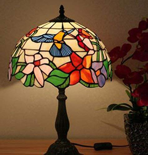 - Hummingbird Lamp Tiffany Table Lamp Stained Glass Desk Lamp 12 Inch Tiffany-Style Art Glass Desk Lamp 21Inch High