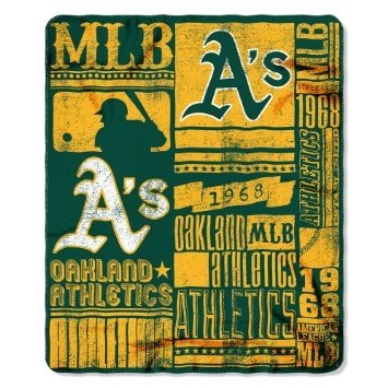 (Oakland Athletics 50x60 Fleece Blanket - Strength Design)