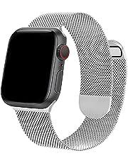 Compatibel met Apple Watch Bands 38 mm 40 mm 42 mm 44 mm Onelanks magnetische horlogeband met dubbelzijdige magnetische mesh roestvrijstalen band voor iWatch Series 6 5 SE 4 3 2 1 voor dames en heren