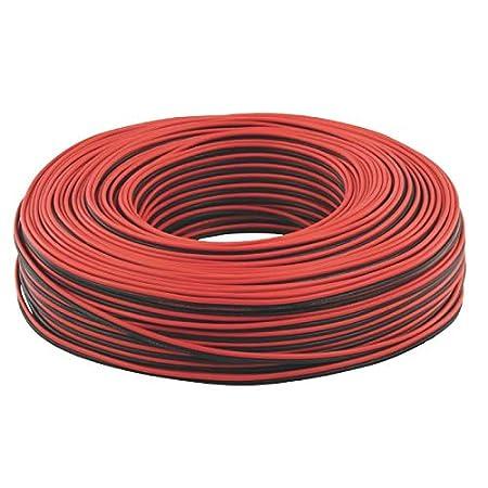 WITTKOWARE C/âble Plat 2 x 0,35 mm 2 x 100 m Rouge//Noir