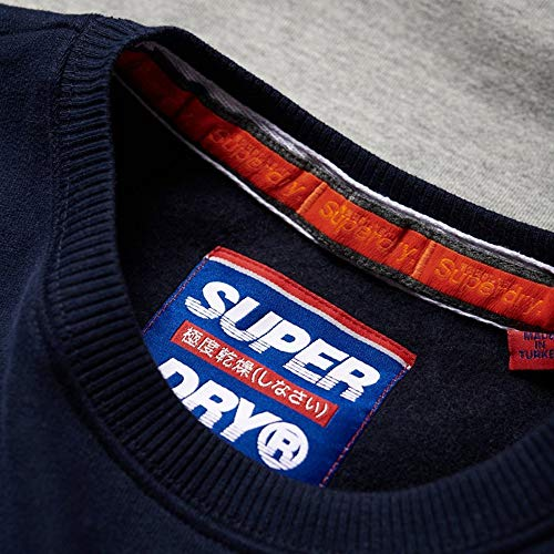 Superdry Felpe Navy Man Lad Blue Applique Nu Blu z4qwzRgx