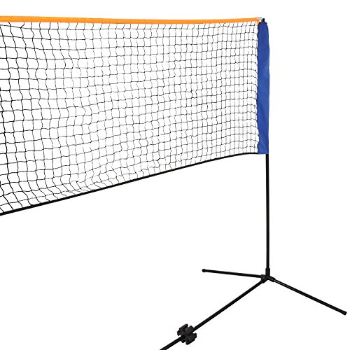 Smartxchoices 10ft Portable Badminton Net and Frame Set Professional Volleyball Training Practice Net with Poles Height Adjustable Net with Carrying Bag by Smartxchoices (Image #5)