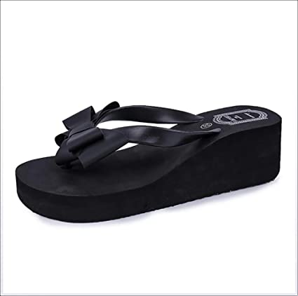 baddda620 Image Unavailable. Image not available for. Color  SHANGXIAN Summer Fashion  Flip Flops Women Beach Wedge Sandals ...