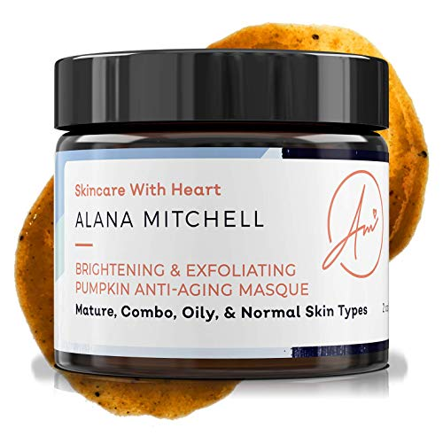 (Brightening Pumpkin Enzyme Face Mask With Glycolic Acid, Lactic & Citric Acid - Instant Gel Exfoliating Mask For Anti Aging, Lighter, Younger, Refreshed Neck & Facial Area By Alana Mitchell Skin Care)
