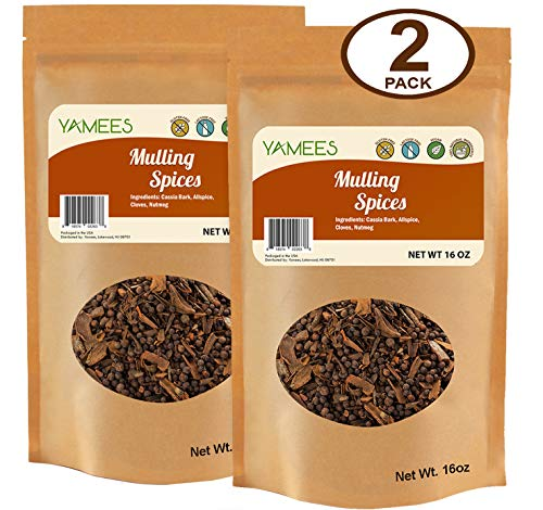 Yamees Mulling Spices - Mulled Spices - Mulling Spices Bulk - Wine Mulling Spices - 2 Pack of 16 Ounces Each (32 Ounces - Wassail Collection
