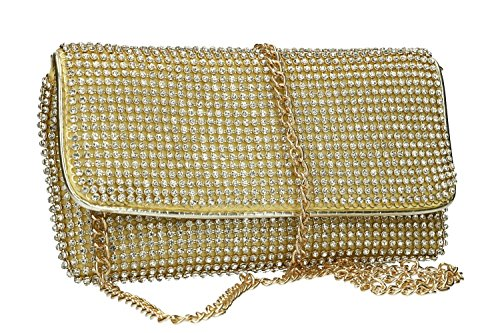 ceremonies for strass with woman VN2357 MICHELLE MOON pochette Purse gold xApYqwX