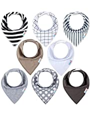 ALVABABY Bandana Drool Bibs For Drooling Teething Feeding Super Absorbent 100% Cotton For Boys and Girls