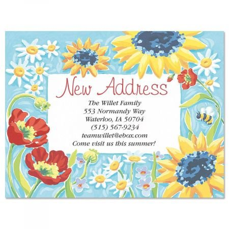 Personalized Moving Announcement - New Horizons Moving Announcements Postcards - Set of 24, Personalized with Address, 5-1/4