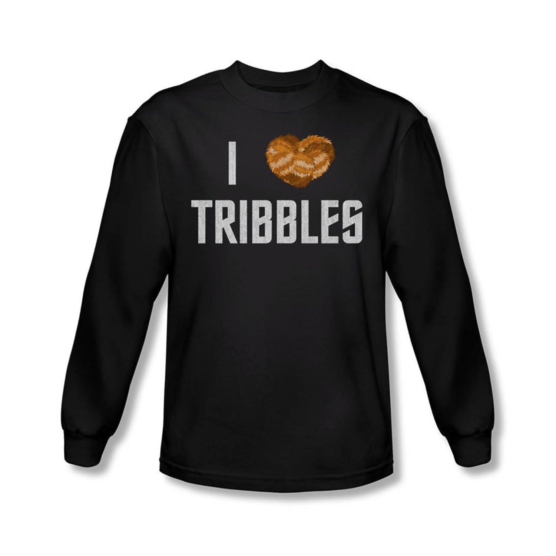Star Trek - Mens I Heart Tribbles Long Sleeve Shirt In Black