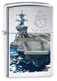 Zippo US Navy Ship High Polish Chrome Pocket Lighter