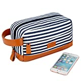 BAOSHA XS-01 Canvas Toiletry Bag Shaving Dopp Case Cosmetic Makeup Bag (Blue)
