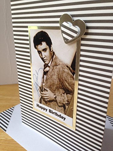 Black and white Happy Birthday Thanks Best friend Card The King matching envelope A6//C6 size actor ELVIS PRESLEY greetings card American singer