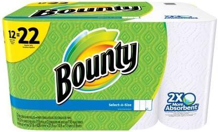 Bounty Select-A-Size Football Print Paper Towels 12 pk.