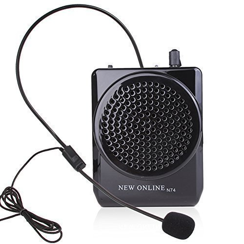 (Koolertron Hands-Free Compact Portable Loudspeaker | New Online N74 Black | Natural Sound, Good for Outdoor Presentation, Tour Guide, Sports Instructors (Japan Import) )