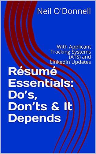 Résumé Essentials: Do's, Don'ts & It Depends by Neil O'Donnell ebook deal