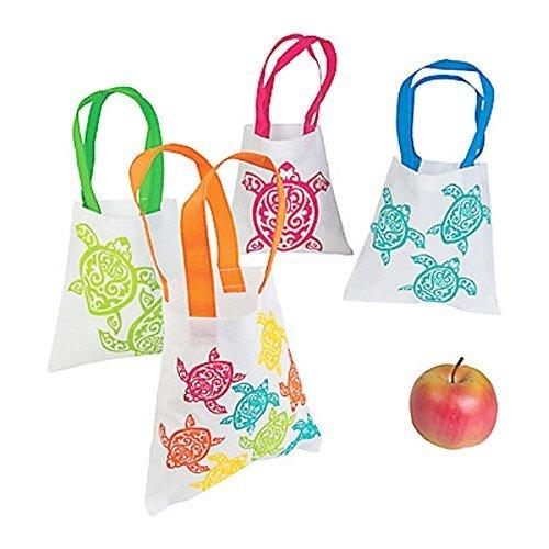 4 ~ Luau Turtle Mini Tote Bags / Gift Bags ~ 8