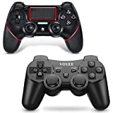 VOYEE Upgraded Wireless PS3 Controller & PS4 Controller - 2 Pack