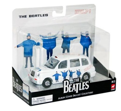 The Beatles Help! Album Cover Die-Cast Collectable - London Taxi - Sgt Pepper Costume Yellow