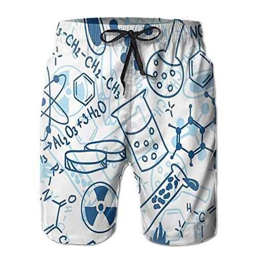 NUNOFOG Cute Dog Men's Swim Boardshorts Quick-Dry Surf Beach Shorts Casual Sport Trunks Shorts Beach Pants With Pocket